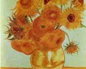 Vincent Van Gogh : Twelve sunflowers in a vase